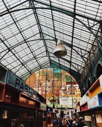 beautiful window at Mercado Central