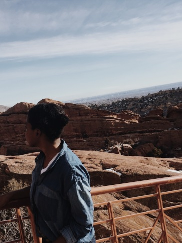 taking in the view at the red rocks ampitheatre!