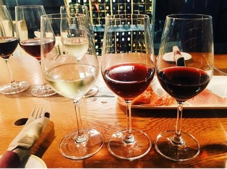 Delicious wine flight at Salt Tasting Cellar